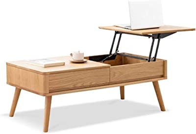 Modern Lift Top Coffee Table – Versatile and Practical Rising Top Coffee Table with Storage Compartment and Drawers for Living Room Furniture – Elegant Coffee Table