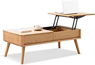 Modern Lift Top Coffee Table – Versatile and Practical Rising Top Coffee Table with Storage Compartment and Drawers for Li...