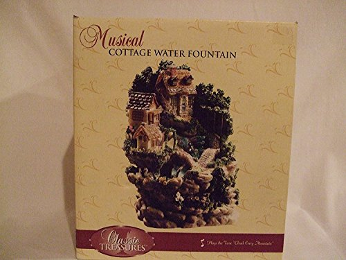 Classic Treasures Musical Cottage Water Fountain
