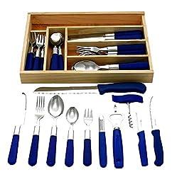 GRÄWE 6 fős indítókészlet, 37 darab, rozsdamentes acélból készült evőeszközök, 30 darabos étkészlet, 3 konyhakékkel, 3 konyhai segédgel, fiókbetéttel - Milano sorozat