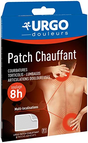 Urgo - Patch chauffant - Adhésif longue durée - Soulage les douleurs musculaires - 13x9,5cm