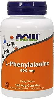 NOW Supplements, L-Phenylalanine 500 mg, Amino Acid, 120 Veg Capsules