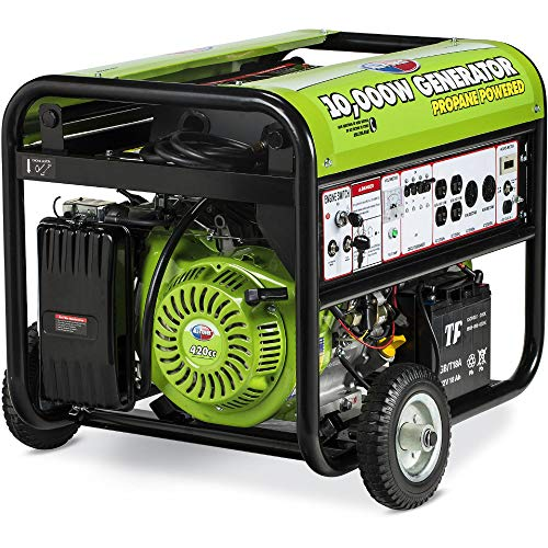 All Power America APG3590CN 10000 Watt Propane Portable Generator w/Electric Start for Home Backup...