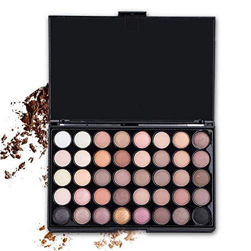 Zhenwo 40 Farben Matte Glitter Lidschatten-Palette Beauty Women Cosmetic Eye Makeup Lidschatten,Set