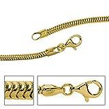 JOBO Schlangenkette aus 333 Gold Gelbgold 2,4 mm 50 cm Kette Halskette Goldkette