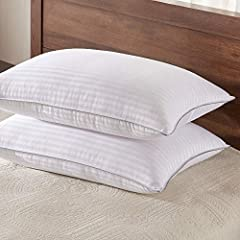 ✅Bamboo Material Fill - Our bed pillow filled with Premium Bamboo & Polyester blend fiber which makes the pillows soft and breathable. ✅Sleep Positions - Pack Includes 2 down alternative king standard size pillows, measures 20 in x 36 in - Comfortabl...