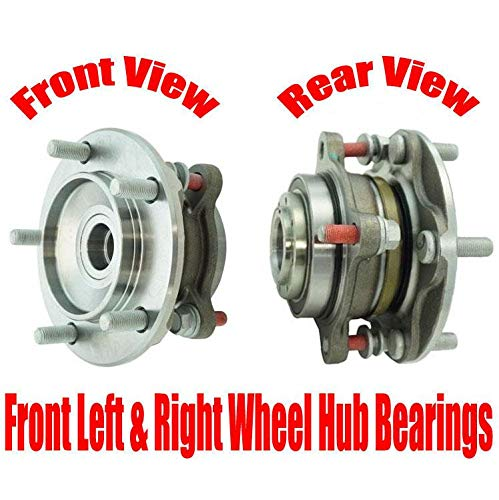Front Left & Right Wheel Hub Bearings for Toyota Tundra Rear Wheel Drive 07-18, Please Stop And Check You Info Fits Rear Wheel Drive Only Trucks
