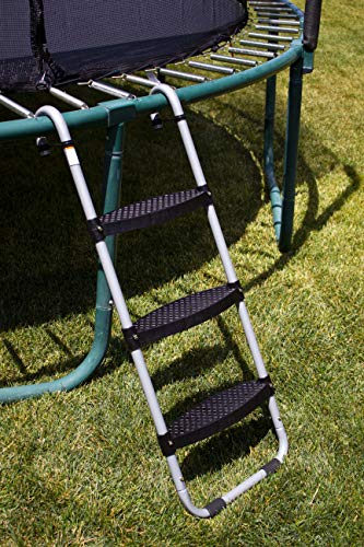 Wide 3-Step Trampoline Ladder   Safety-Latch   No Slip   Cooler Surface   [Lifetime Parts Warranty]