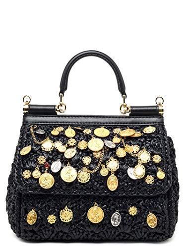 Luxury Fashion   Dolce E Gabbana Donna BB6003AK08380999 Nero Borsa A Mano   Stagione Permanente