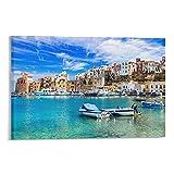 BAYUAN Sizilien Landschaft Poster Schöne Landschaft Ein