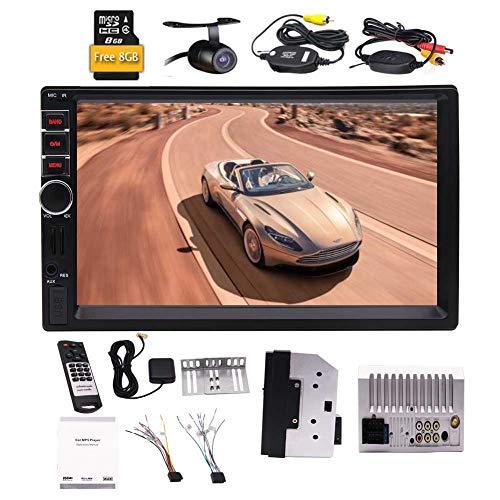 Double 2 Din 7 pouces Radio Player voiture Dash Navigation GPS st¨¦r¨¦o pour Universal 2 din mains libres Bluetooth V¨¦hicule de support USB / SD pour la vid¨¦o MP3 MP4 dans le syst¨¨me de divert