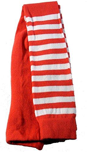 Shimasocks Baby Kinder Öko Legging Bio Baumwolle, Größe:98/104, Farben alle:hellrot/weiß