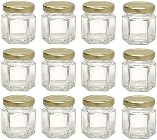 Hexagon Glass Jars, Mini Hex Jars 1.5 Oz - Case of 12