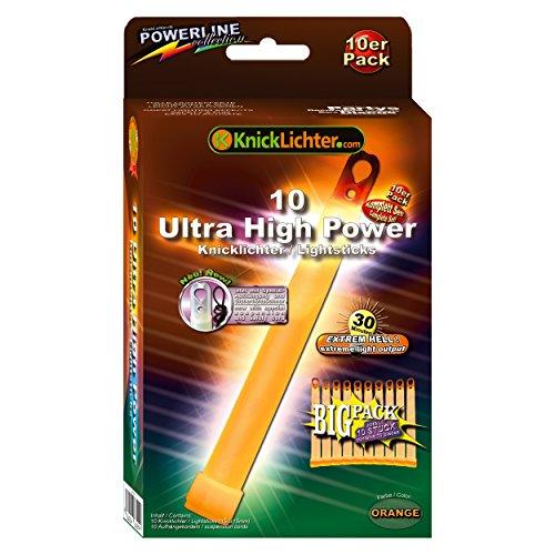 LED-Highlights Lot de 10 Ultra High Power Orange. extrêmement clair. Extra Épais. 150 x 15 mm. En pack économie d'Big. Dernière génération. Sous Label eigenem Fabrication.