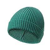 GYYCY Europäischen Und Amerikanischen Kurzen Absatz Barren Gestrickte Ski Hut Mode Im Freien Retro Single-Layer-Flansch Vertikale Hut