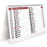 Calendario 2021 da Tavolo con Feste Settimane Lune e Santi - Certificato FSC® e Amico dell'Ambiente - 19,5x16 cm