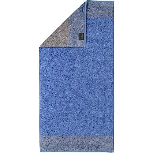 Cawö Luxury Home Saunatuch Two-Tone 590   17 blau - 80 x 200