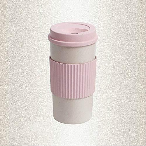 XGQ Portátil al Aire Libre Comida campestre del Recorrido Slip Aislamiento Aislado de Paja Taza de café, Tamaño: 450 ml YW2628