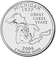 2004 S Silver Proof Michigan State Quarter Choice Uncirculated US Mint