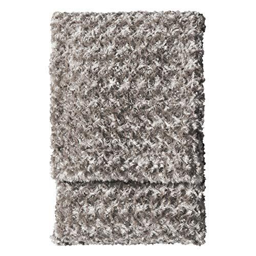 Kilburn & Scott Faux Fur Blanket Throw Throwover Woodlander - Manta de Piel sintética (130 x 170 cm), Color Gris, marrón Topo, 130x170cm