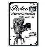 CREATCABIN Colección de Películas Retro Cartel de Chapa Vintage Decoración de Pared de Metal Decoración Mural Artístico Hogar Jardín Cocina Garaje Cartel Placa 12 x 8 Pulgada