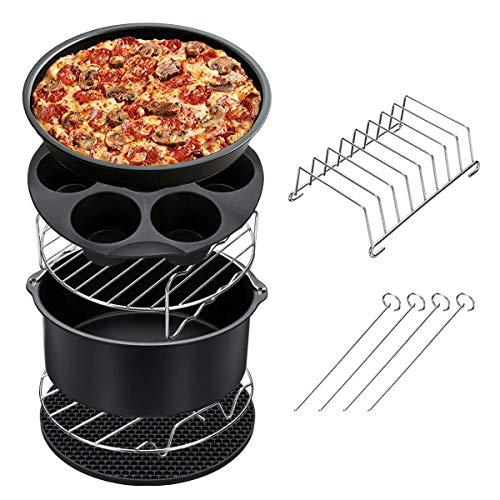 Heritan Juego de accesorios para freidora de aire, 7 piezas, cesta para hornear pizza, herramienta de cocina para el hogar