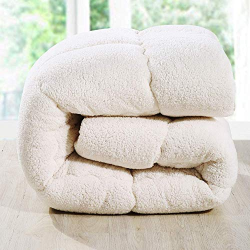 MRTYU-UY Colcha de cachemira cálida, colcha de tela de lana para invierno, colcha de plumas de permeabilidad a la humedad, individual doble, Be