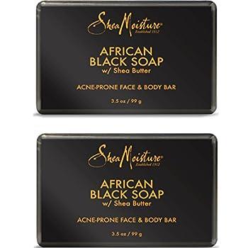 Shea Moisture African Black Soap Bar 3.5 Oz Pack of 2