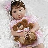 Paradise Galleries Reborn - Muñeca de vinilo de silicona para bebé en color rosa, 20 pulgadas, juego de regalo de muñeca de 6 piezas