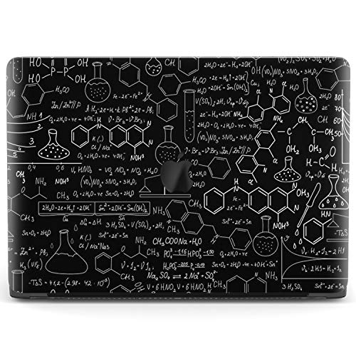 Mertak Hard Case Compatible with MacBook Pro 16 Air 13 inch Mac 15 Retina 12 11 2020 2019 2018 2017 Clear Cover Print Laptop Pattern Education Formulas Chemistry Protective Science Plastic