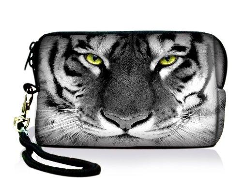 Luxburg® Design Universal Kameratasche Hülle Sleeve Hülle für kompakte Digitalkamera, Motiv: Tigeraugen