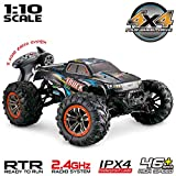 Hosim Large Size 1:10 Scale High Speed 46km/h 4WD 2.4Ghz Remote Control Truck 9125,Radio Controlled Off-Road RC Car...