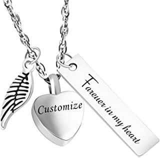 Personalized Urn Necklace for Ashes for Mom Cremation Jewelry for Ashes Memorial Ashes keepsakes Jewelry-Forever in My Heart
