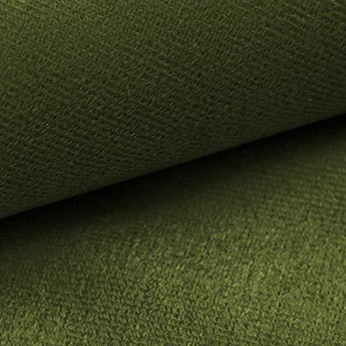 NOVELY® ARTENA Möbelstoff | Velours | samtig weich | Polsterstoff | Bezugsstoff | PFLEGELEICHT | ANSCHMIEGSAM (40 Olivgrün)