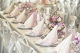 Sovie HORECA Tischläufer Mandy | Linclass® Airlaid Tischläufer 40cm x 24m | Tischdecken-Rolle stoffähnlich | Einmal-Tischdecke für Hochzeit & Partys | Rosa - 5