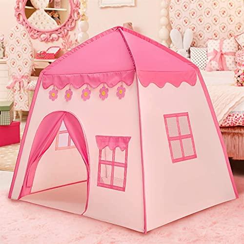 Zzx Kinderzelt Indoor Jungen und Mädchen Prinzessin Castle Spielhaus Klappendes kleines Haus Schlafhauses Big Play House Number (Color : Pink)