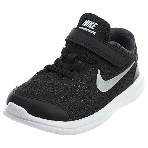 Nike Boy's Flex 2017 RN (TDV) Running Shoes (5 Toddler M, Black/Metallic Silver)