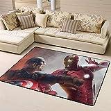 Wlkecgi Capitán América Alfombra pequeña alfombra de safavieh regalos para niños sala de juegos dormitorios del Capitán América, poliéster, A, 4'x6'(120cmxG180cm)