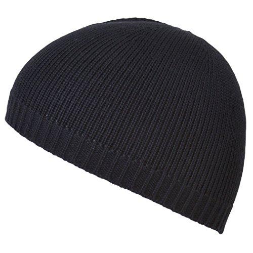 CHARM Mens Skull Cap Beanie Hat - Lightweight Kufi Hat Seamless Deodorizing Black