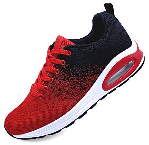 Zapatillas deportivas para hombre y mujer Air para correr, fitness, running, para hombre y mujer Rojo Size: 41 EU