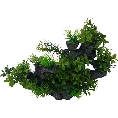Rock Outcrop with Plants Aquarium or Fish Tank Decor Ornament