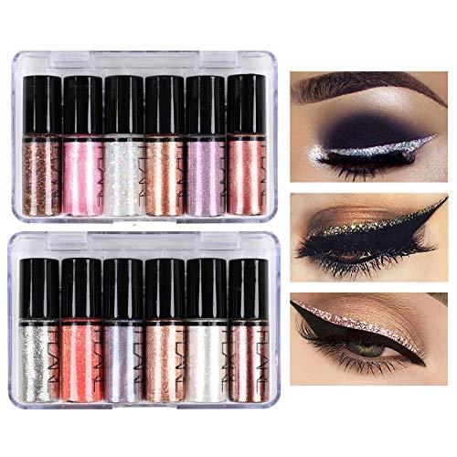 Emirde 12 Colors Glitter Liquid Eye…