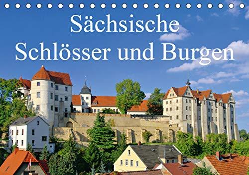 Sächsische Schlösser und Burgen (Tischkalender 2021 DIN A5 quer)