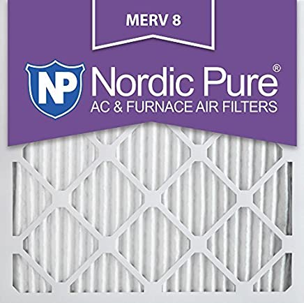 Nordic Pure 16x16x1M8-2 MERV 8 AC Furnace Filter 16x16x1 Pleated Merv 8 AC Furnace Filters Qty 2 [並行輸入品]