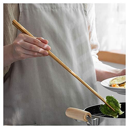 36 cm lange Buchenholz-Essstäbchen zum Kochen, japanische hölzerne extra lange wiederverwendbare Essstäbchen für Hot Pot, Nudeln, Frittieren, Kochen, Rührei, 10 Paar-B