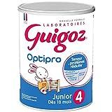 GUIGOZ 4 junior - Lait de croissance en poudre dès 18 mois - Boîte de 900g