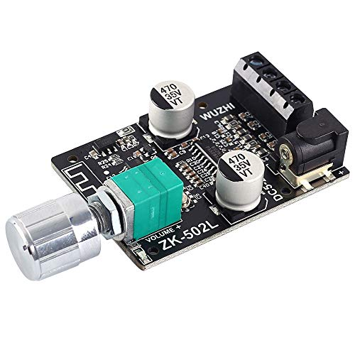 PEMENOL 50Wx2 Bluetooth Verstärkerplatine Stereo Dual Channel Bluetooth Audio Empfänger Receiver mit Lautstärkeregler Mini Wireless Digital Bluetooth 5.0 Verstärker Platine Modul mit Shell für DIY