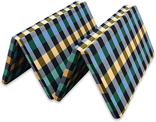 SUGANDHA 2 inch Single Bed Folding Pure EPE Foam Mattress for Travel, Picnic (72X35X2, Medium)