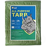 GUARD RHINO Tarp 12x19 Feet Green Multi Purpose Waterproof Poly Tarp Cover 6mil
