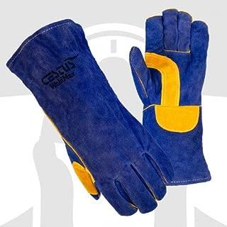 Cestus WeldMax - 7033 L Blue Leather Welding Glove - Large